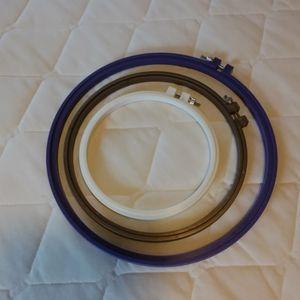 NWOT three plastic embroidery hooks